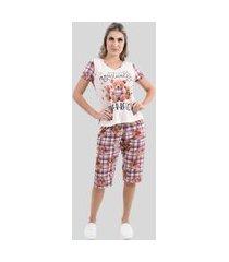 pijama confortável pescador curto