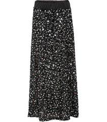 mellanlång kjol med paljetter
