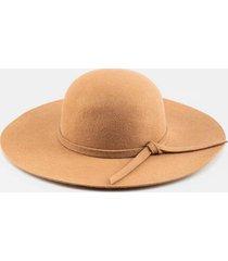 millie felt floppy hat - camel