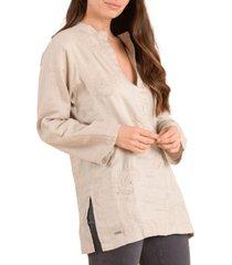 blusa lino orgánico debora beige rockford