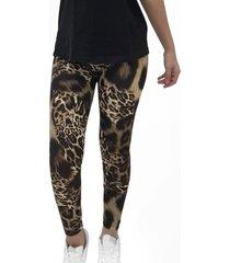 calza leggings animal print cafe mlk