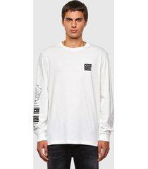 polera t just ls n61 t shirt 129 blanco diesel