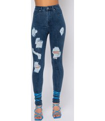 akira extreme stretch high waisted distressed skinny jeans