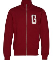 d1. graphic zip-through sweat sweat-shirt trui rood gant