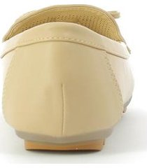mocasines para mujer marca via spring color beige via spring - beige