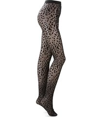 animal-print tights