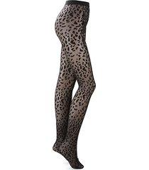 animal-print tights
