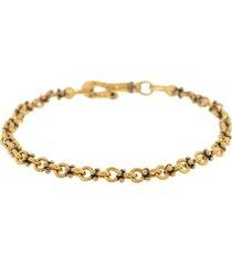 plain double round chain bracelet