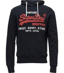 sweat shirt shop duo hood hoodie trui blauw superdry