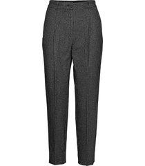 mara puppytooth trou pantalon met rechte pijpen zwart allsaints