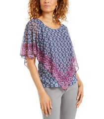 jm collection petite mesh poncho top, created for macy's