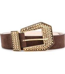 b-low the belt stud-embellished leather belt - brown