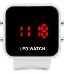 reloj digital blanco color blanco, talla uni