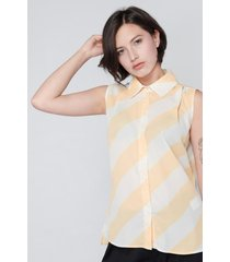 blusa con franjas koaj - amarillo