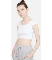 crop top escote redondo