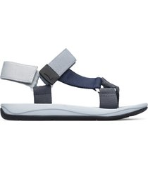 camper match, sandalias hombre, gris/azul, talla 46 (eu), k100539-004