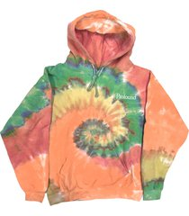 men's profound tie dye rainbow swirl hoodie, size large - none