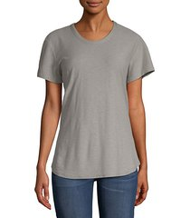 crewneck cotton modal t-shirt
