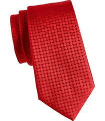canali men's tonal dot silk tie - red