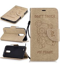 xyx lg k20 plus case don't touch my phone flip pu wallet leather protective case