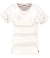 garcia shirt spring white met goudkleurig streepje