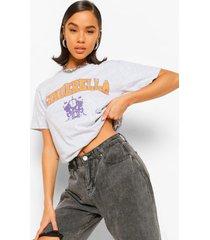 assepoester disney licentie-t-shirt, grijs gemêleerd