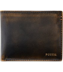 fossil men's wade bifold leather wallet