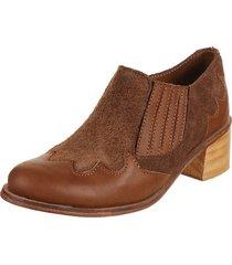 botineta  suela rosevelt shoes bianca texana