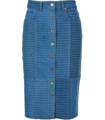 marine serre moon-print pencil skirt
