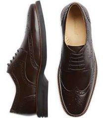belvedere cambridge brown wingtip dress shoes