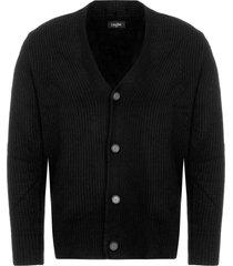 calvin klein black sawal wool cashmere shawl cardigan 387013-013