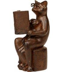escultura decorativa de resina gato frederic