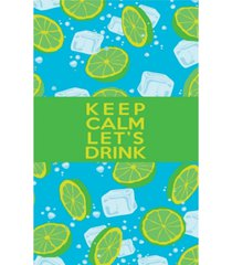 premium beach towel super absorbent & soft lightweight & compact eco-friendly anti-bacterial travel accessory keep calm let's drink green by minxny bedding