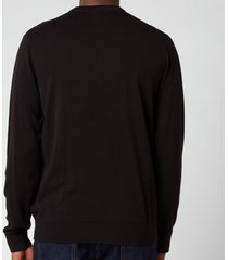 ps paul smith men's zebra logo crewneck sweatshirt - black - xl