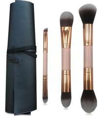 3-pc. dual-ended brush set with case, created for macy's