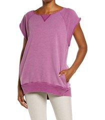 women's free people fp movement muscle tunic, size small - purple