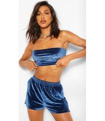 bandeau topje met diamanten slogan 'babygirl', blauw