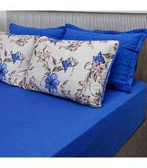 conjunto de lençol casal pertutty 100 porcento algodão toque macio