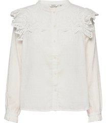bygesine blouse - blus långärmad vit b.young