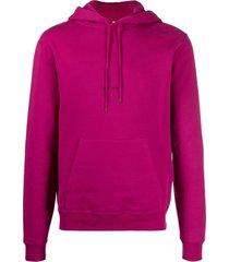 large fuchsia hooded sweatshirt