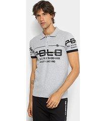 camisa polo rg 518 piquet estampada masculina
