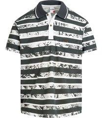camiseta tipo polo gris oscura audax con bolsillo