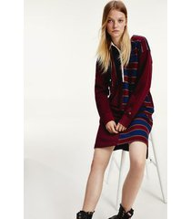 tommy hilfiger women's icon oversized rugby dress deep rouge - s