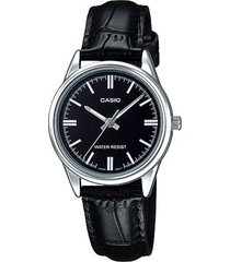 reloj casio dama ltpv 005l-1a  calendario pulso en cuero original