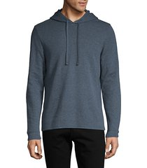 cotton-blend pullover hoodie