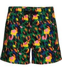 leopard swim shorts badshorts multi/mönstrad happy socks