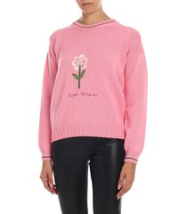 giada benincasa - flower embroidery sweater