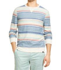 men's faherty reversible surf crew sweatshirt, size x-large - blue