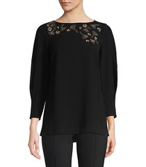 caddie blouse with embellished detail