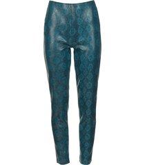 broek met slangenprint naomi  blauw